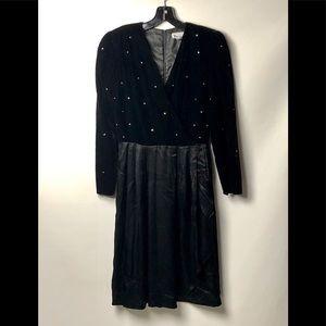 VINTAGE PATRA CRYSTAL EMBELLISHED DRESS